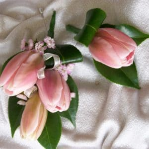 Tulip Coursage and Buttonhole